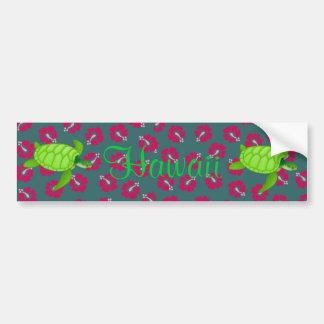 hibiscus-Sea Turtle Hawaii - Customize it Car Bumper Sticker