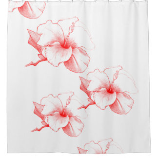 Hibiscus Sketch (White)
