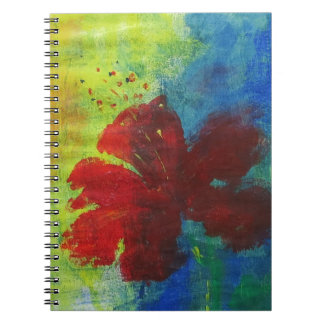 hibiscus spiral notebooks