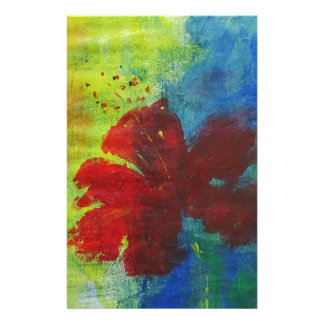 hibiscus stationery paper
