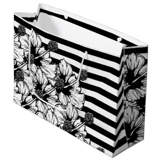 Hibiscus Stripes Large Gift Bag