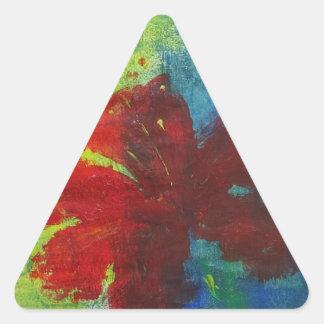hibiscus triangle sticker