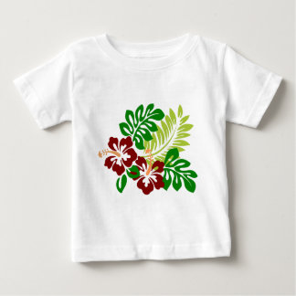 Hibiscus Tropical Flowers Baby T-Shirt