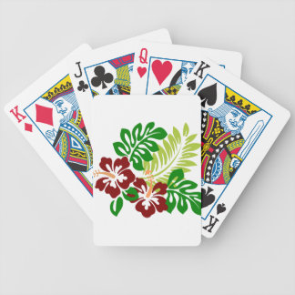 Hibiscus Tropical Flowers Bicycle Playing Cards