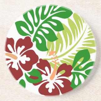 Hibiscus Tropical Flowers Coaster