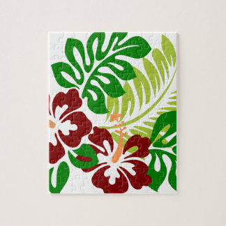 Hibiscus Tropical Flowers Jigsaw Puzzle