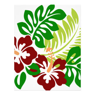 Hibiscus Tropical Flowers Letterhead