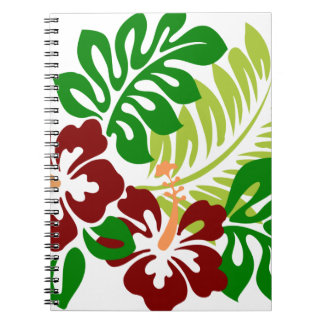 Hibiscus Tropical Flowers Notebooks