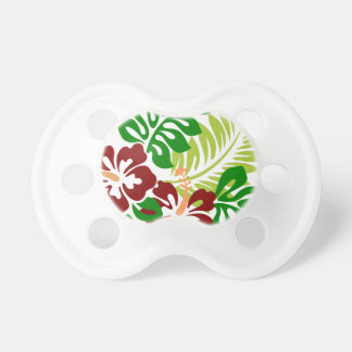 Hibiscus Tropical Flowers Pacifier