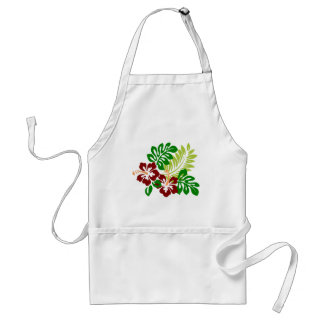 Hibiscus Tropical Flowers Standard Apron