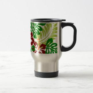Hibiscus Tropical Flowers Travel Mug