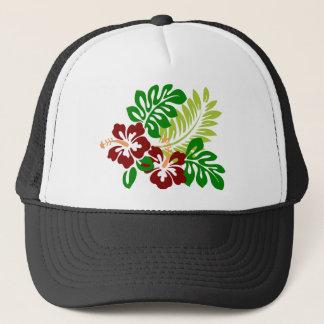 Hibiscus Tropical Flowers Trucker Hat