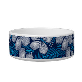 Hibiscus tropical printed embroidery bowl