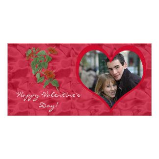 Hibiscus Valentine's Day Photo Card
