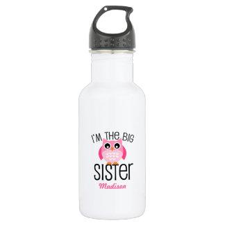 Hibou de rose de grande soeur personnalisé bouteille d'eau en acier inoxydable