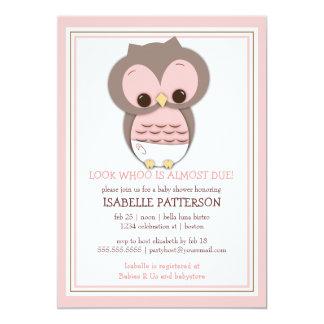 Hibou doux de bébé c'est une invitation de baby