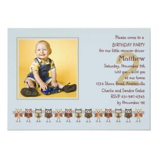 Hiboux dans une invitation de fête d'anniversaire carton d'invitation  12,7 cm x 17,78 cm