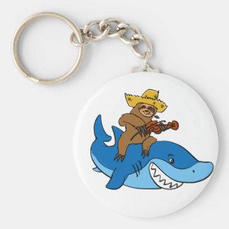 Hick sloth mounted on shark keychain