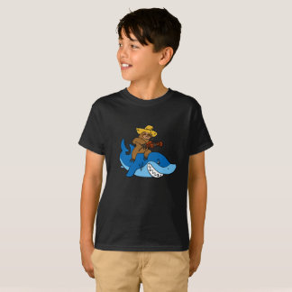Hick sloth mounted on shark T-Shirt