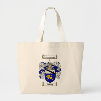 HICKEY FAMILY CREST -  HICKEY COAT OF ARMS LARGE TOTE BAG