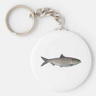 Hickory Shad Watercolor Keychain