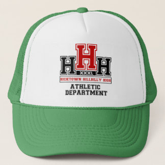 Hicktown Hillbilly Highschool for Hillbillies Trucker Hat