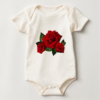 HiD Hi-DEF Red Roses Baby Bodysuit