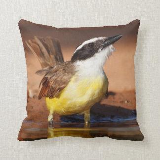 Hidalgo County, Texas. Great Kiskadee (Pitangus) Throw Pillow