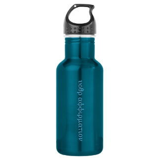 "Hidden Affirmation ""Secret Code"" bottle--blue 532 Ml Water Bottle"