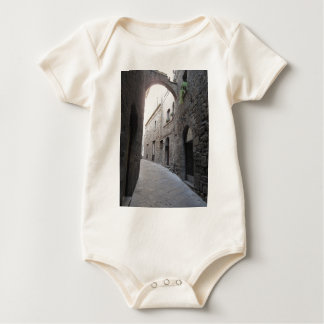 Hidden alley in Volterra village, province of Pisa Baby Bodysuit