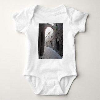 Hidden alley in Volterra village, province of Pisa Baby Bodysuit