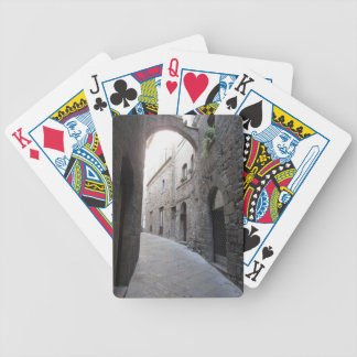 Hidden alley in Volterra village, province of Pisa Bicycle Playing Cards