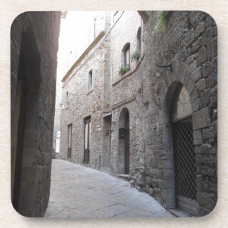 Hidden alley in Volterra village, province of Pisa Coaster