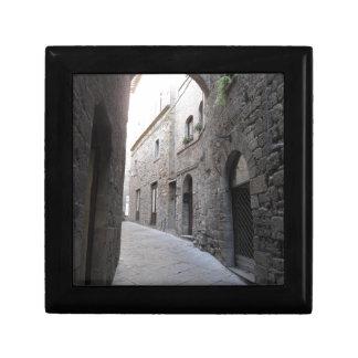 Hidden alley in Volterra village, province of Pisa Gift Box