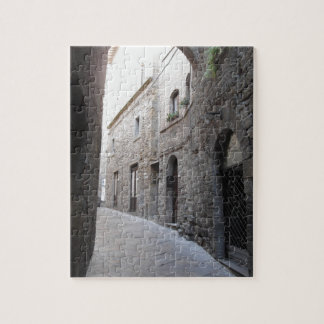 Hidden alley in Volterra village, province of Pisa Jigsaw Puzzle