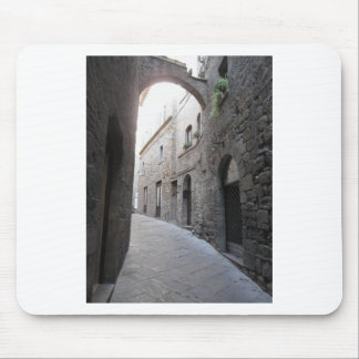 Hidden alley in Volterra village, province of Pisa Mouse Pad