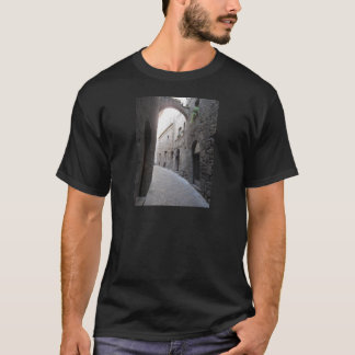 Hidden alley in Volterra village, province of Pisa T-Shirt