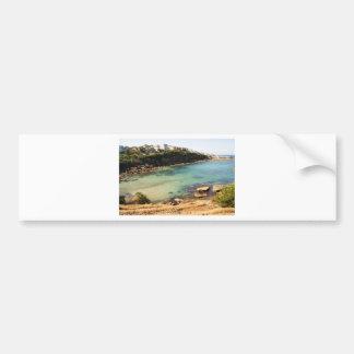 Hidden beach bumper sticker