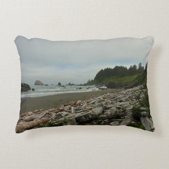 Hidden Beach I at Redwood National Park Accent Pillow