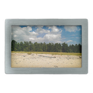 Hidden beach rectangular belt buckle