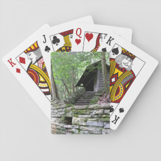 Hidden Cabin in the Woods Playing Cards
