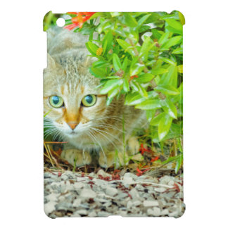 Hidden Domestic Cat with Alert Expression iPad Mini Cover