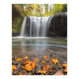 Hidden Falls in Clackamas Oregon fall season Letterhead