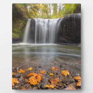 Hidden Falls in Clackamas Oregon fall season Plaque