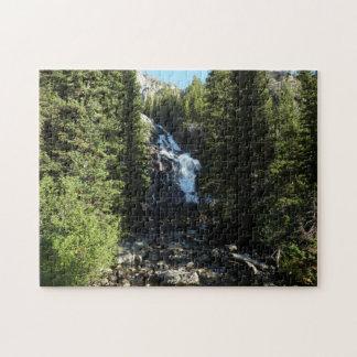 Hidden Falls in Grand Teton National Park Jigsaw Puzzle
