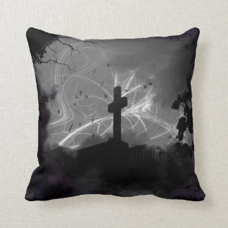 Hidden Grave Square Cotton Pillow