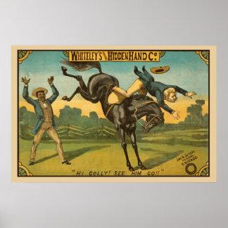 Hidden Hand Vintage Poster