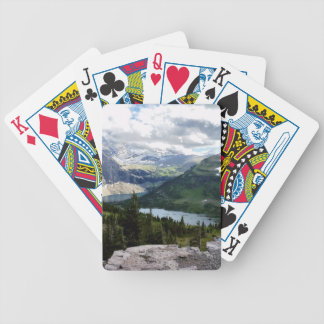 Hidden Lake Overlook Glacier National Park Montana Bicycle Playing Cards