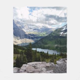 Hidden Lake Overlook Glacier National Park Montana Fleece Blanket