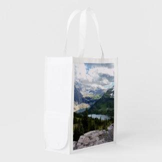 Hidden Lake Overlook Glacier National Park Montana Reusable Grocery Bag